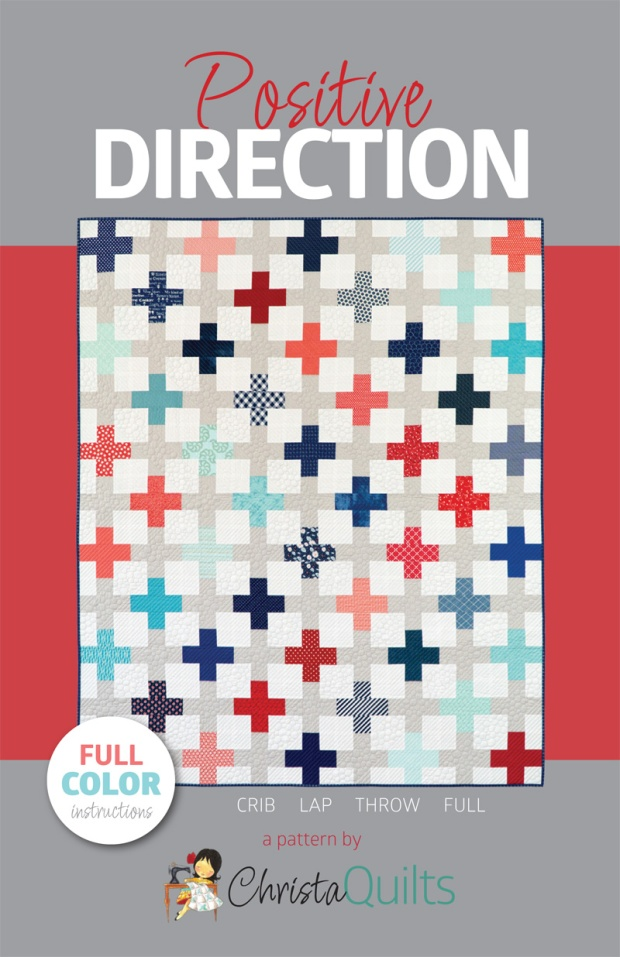 Positive Direction Pattern Cover by Christa Quilts