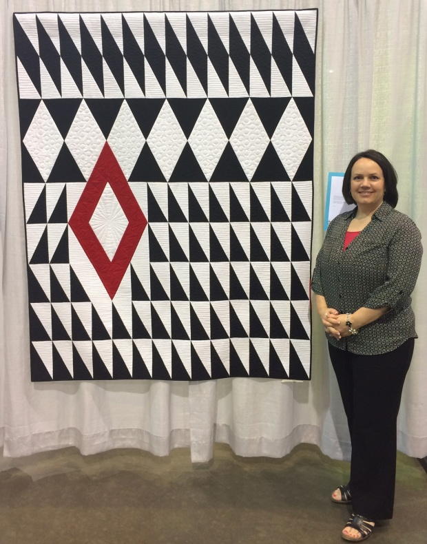 Diamond in the Rough by Christa Watson, at QuiltCon 2017