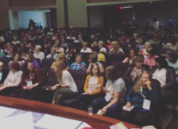View from the stage at QuiltCon