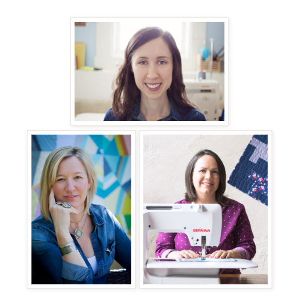 Pantone Quilt Challenge 2017 judges Carolyn Friedlander, Jennifer Sampou and Christa Watson