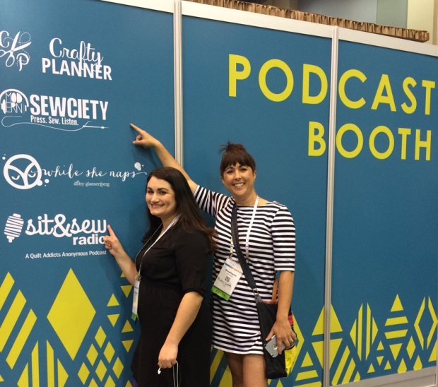 Stephanie and Stephanie, the Quilting Podcasters