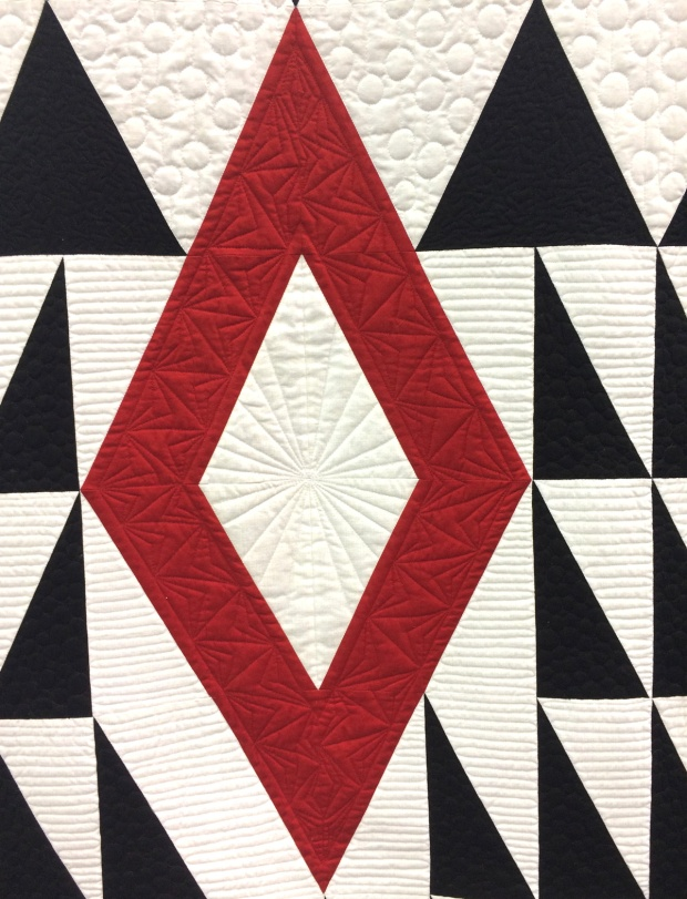Diamond in the Rough quilting detail