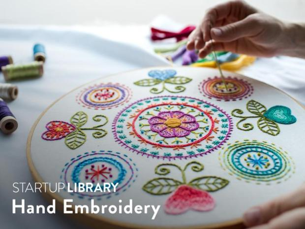Cratfsy startup library Hand Embroidery