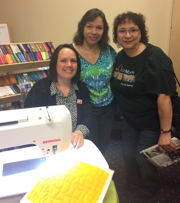 Machine quilting students