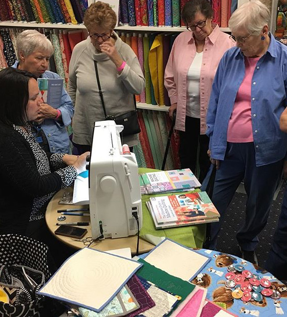 Machine Quilting demo by Christa Watson