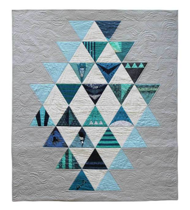 Modern Triangle Quilt by Becca Bryan