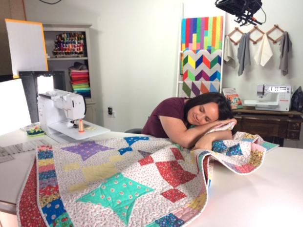 Christa on Set at Craftsy