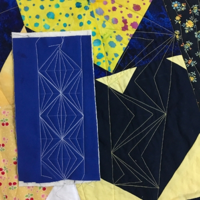 Machine Quilting practice from HollyAnne