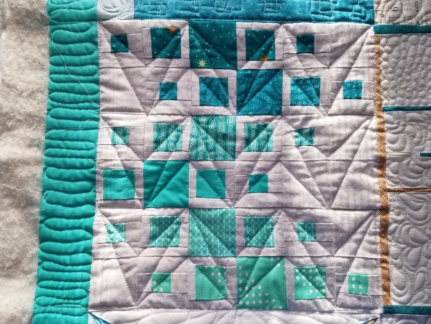Machine Quilting practic with Vicki