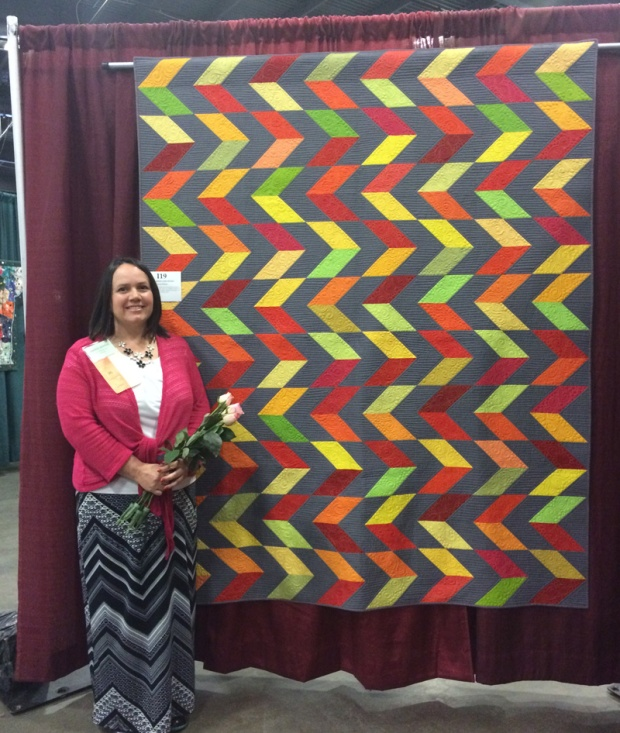 Feathered Chevrons at Vermont Quilt Festival