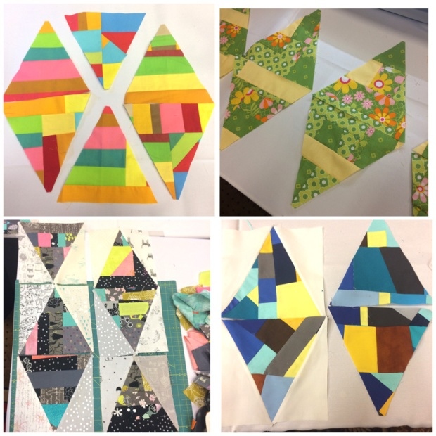 Student work on Facets from Machine Quilting with Style