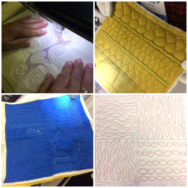 Free Motion Quilting: Student work in Christa Watson's class