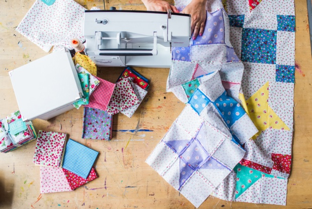 Friendship Stars Quilt Assembly by Christa Watson from Startup Library Quilting