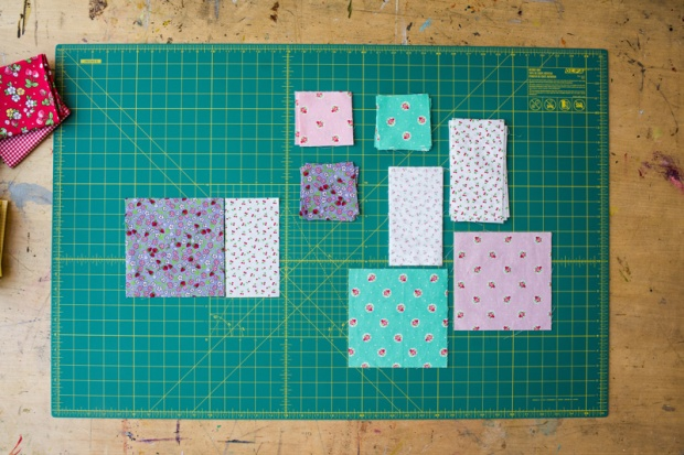 Cuting Fabric for Friendship Stars Quilt