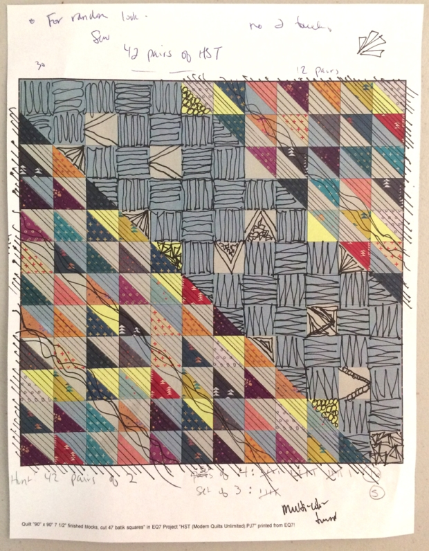 Possible Quilting Plan for HST Remix