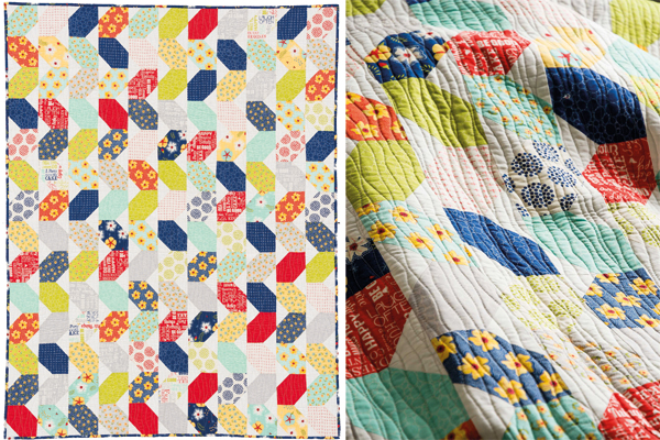Squiggles Quilt from Piece and Quilt with Precuts by Christa Watson
