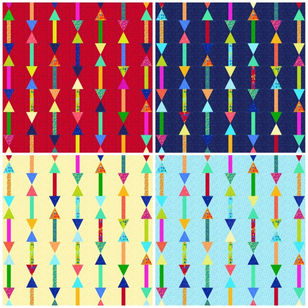 Arrows in 4 colors