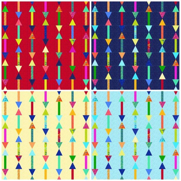 Arrows in 4 colors