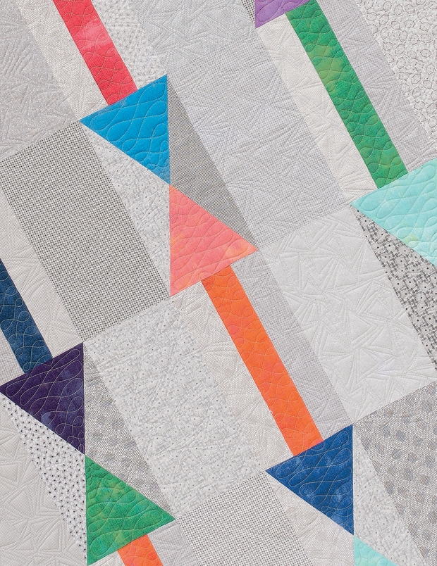 Detail quilting of Arrows Quilt - design is called Arrowheads from Piece and Quilt with Precuts