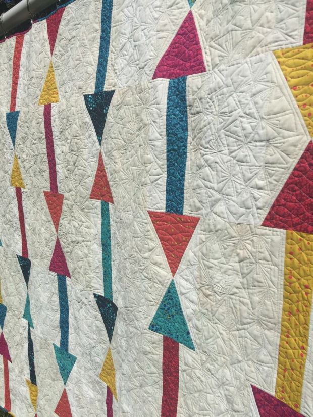 Arrows quilting detail by Lynn