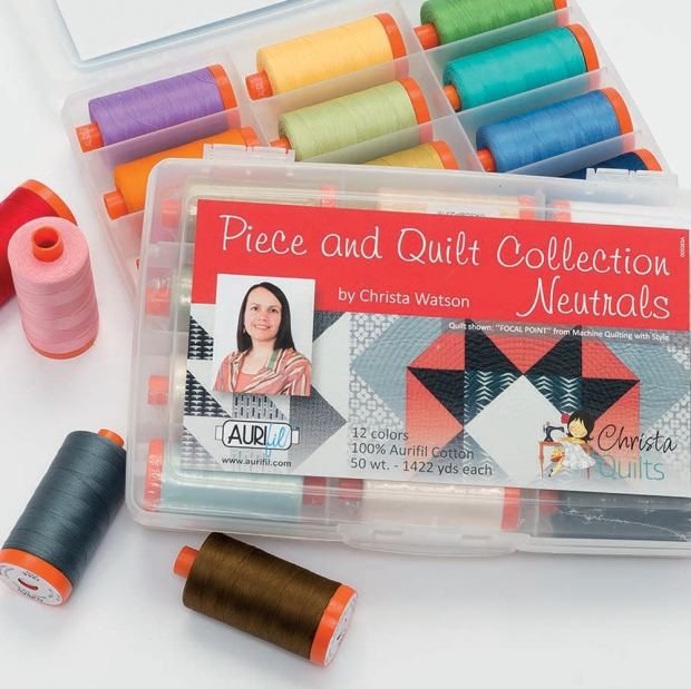 Piece and Quilt Collection Aurifil Thread by Christa Watson