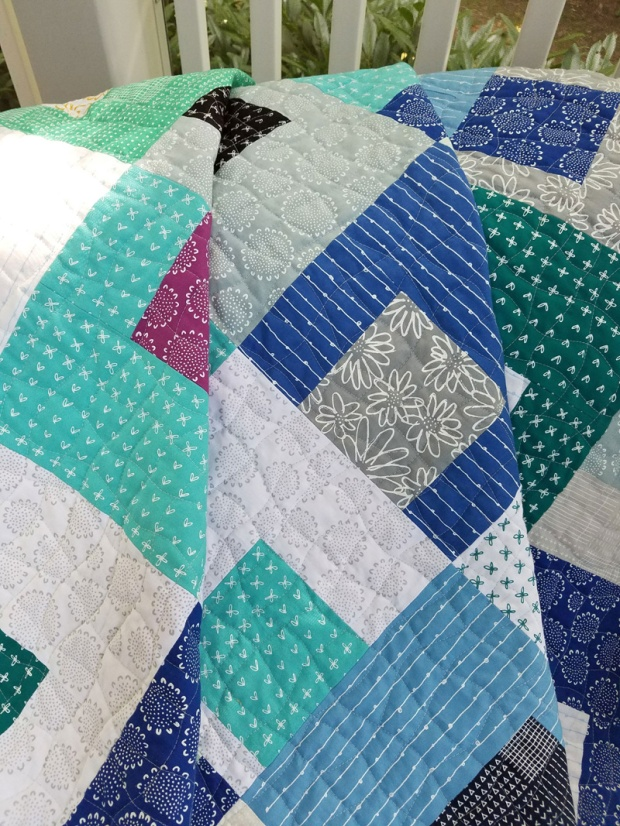 Gridwork quilting by Sandy