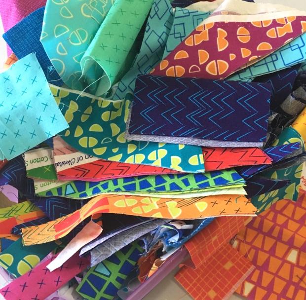Modern Marks fabric scraps