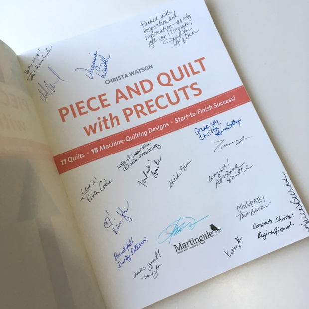 Christa's book, signed by Martingale