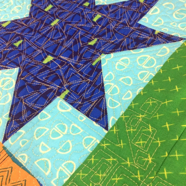 Christa Watson free motion quilting Starstruck from Piece and Quilt with Precuts