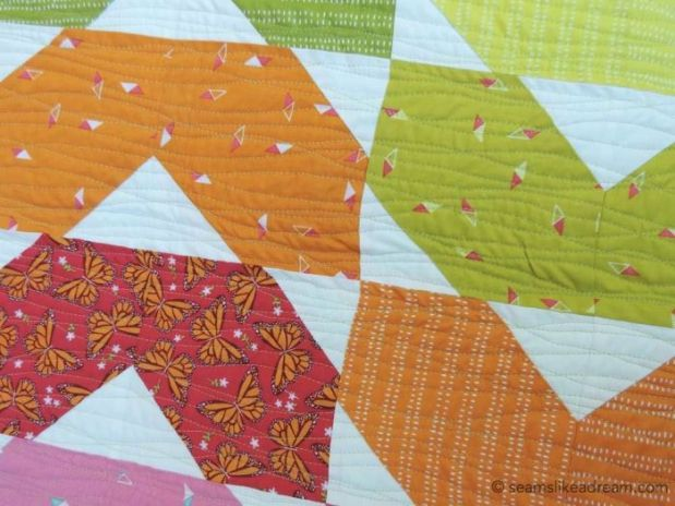 Squiggles quilting by Kate