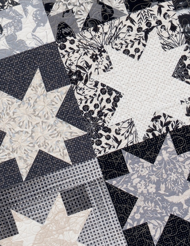 Quilting Loops on Starstruck from Piece and Quilt with Precuts