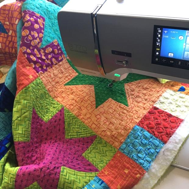 Christa Watson Machine Quilting - Modern Marks Fabric
