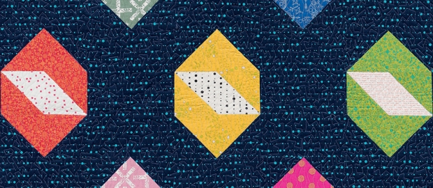 Twinkling Diamonds from Piece and Quilt with Precuts