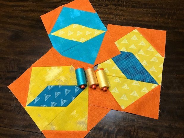 Twinkling Diamonds Blocks and Aurifil Thread