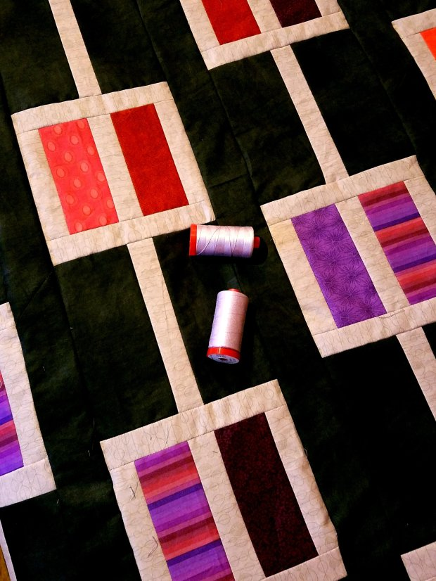 Windows quilt in progress
