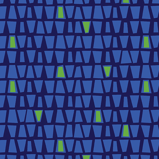 Modern Marks Quirky Triangles Navy Blue