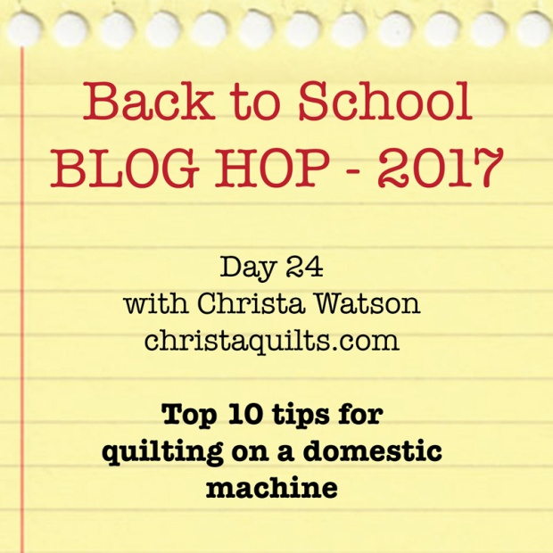 Back to School Blog Hop - sewing tips