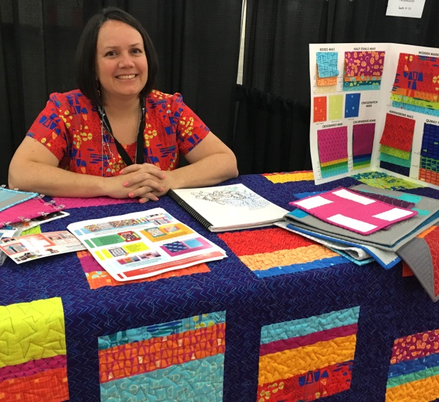 Christa at Quilt Market 2017