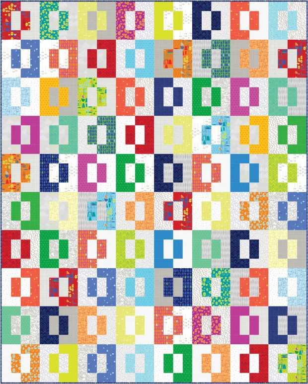 Modern Puzzle Free Pattern from Christa Watson