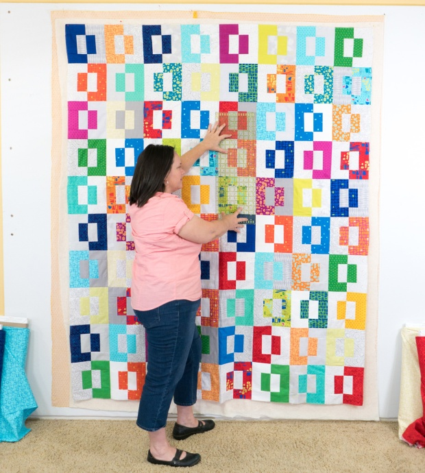 Wall Basting Tutorial Using Spray Adhesive Christa Quilts