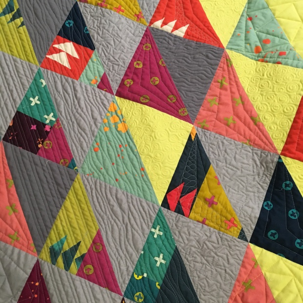 HST remix quilting detail