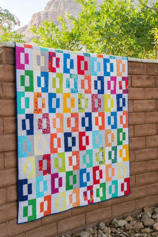 Modern Quilt Patterns Free Download : Finished Quilt: Modern Puzzle + Quilting Tips Christa Quilts