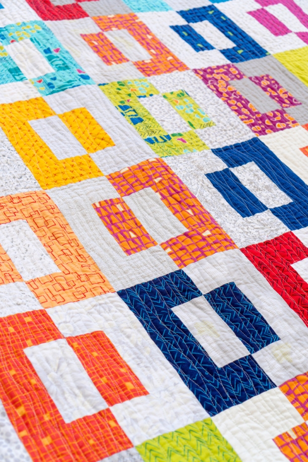 Modern Puzzle Quilt by Christa Watson