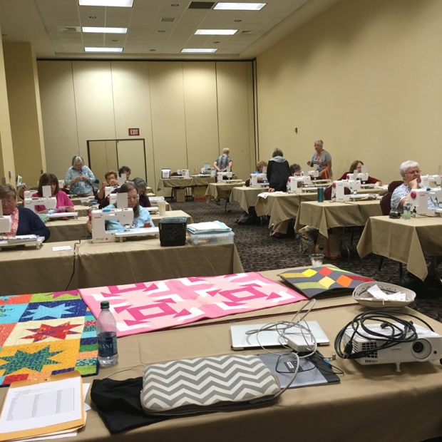 Teaching at MQX quilt show