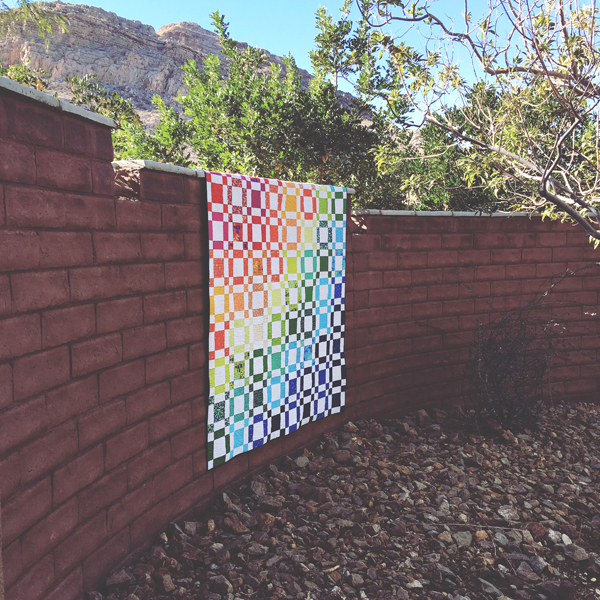 quilt photography - Rainbow Taffy Quilt