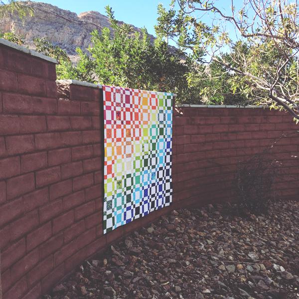 quilt photography - Rainbow Taffy Quilt