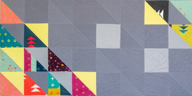 Machine Quilting on HST Remix