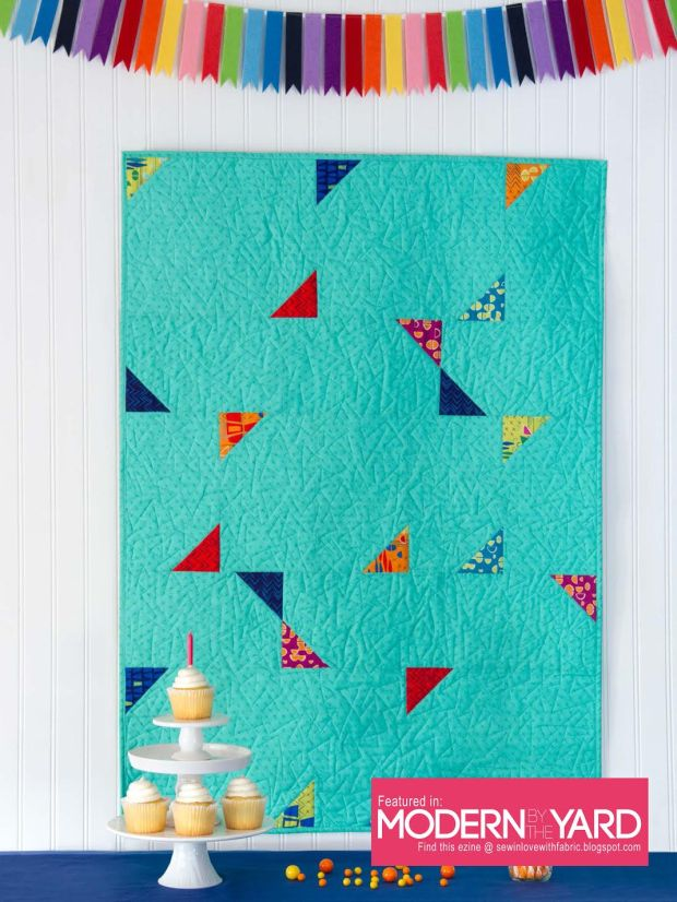 Confetti Quilt Pattern featuring Modern Marks fabric by Christa Watson