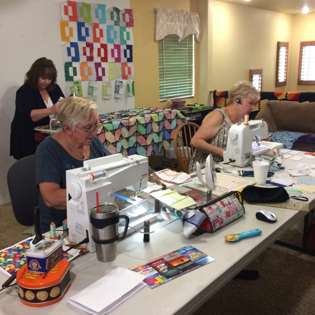 Sewing Party at Christa's
