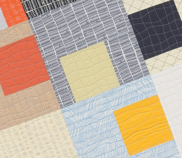 Gridwork quilting with a walking foot
